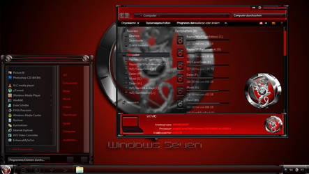 DragonInRedBlack Desktop Theme for Windows 7