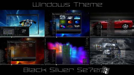 Black Silver Se7en Desktop Theme for Windows 7