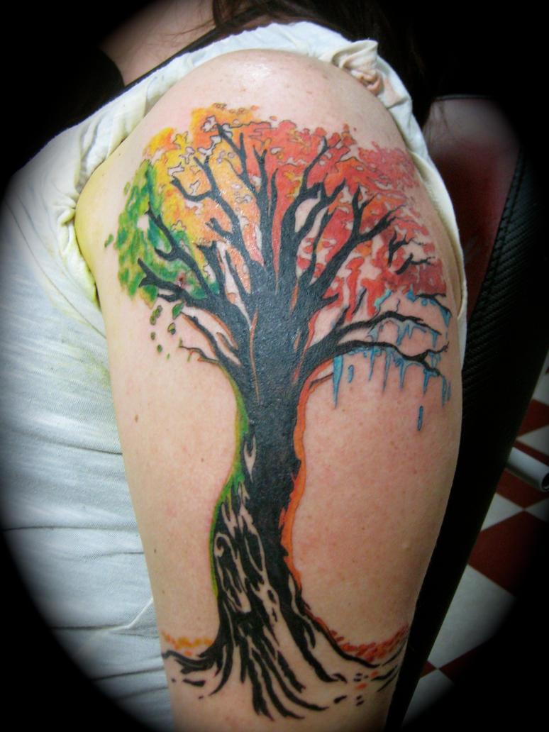 four seasons tattoo adam rose by adamrose on deviantart