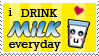 i drink milk everyday stamp by BaKaLiCiouS