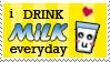 i drink milk everyday stamp by BaKaLiCiouS