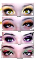 kawaii fruit eye shadow by ynocencia