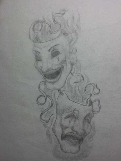 theatre mask sketch for tommy by okietatz on deviantart. Black Bedroom Furniture Sets. Home Design Ideas
