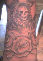 La Santa Muerte Tattoo by okietatz on DeviantArt