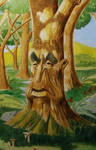 Tree Face by Hydrart