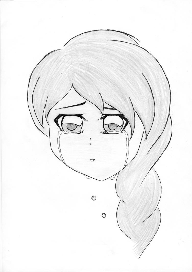 Crying Anime Girl By Pratistha05