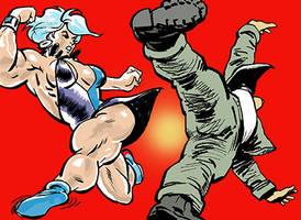 Quadra Gets Her Kicks by LymanDally