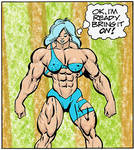 Quadra-blu in her Circ De Strengths outfit