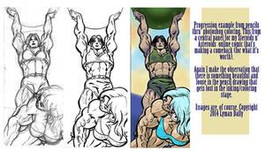 Quadra art progression by LymanDally