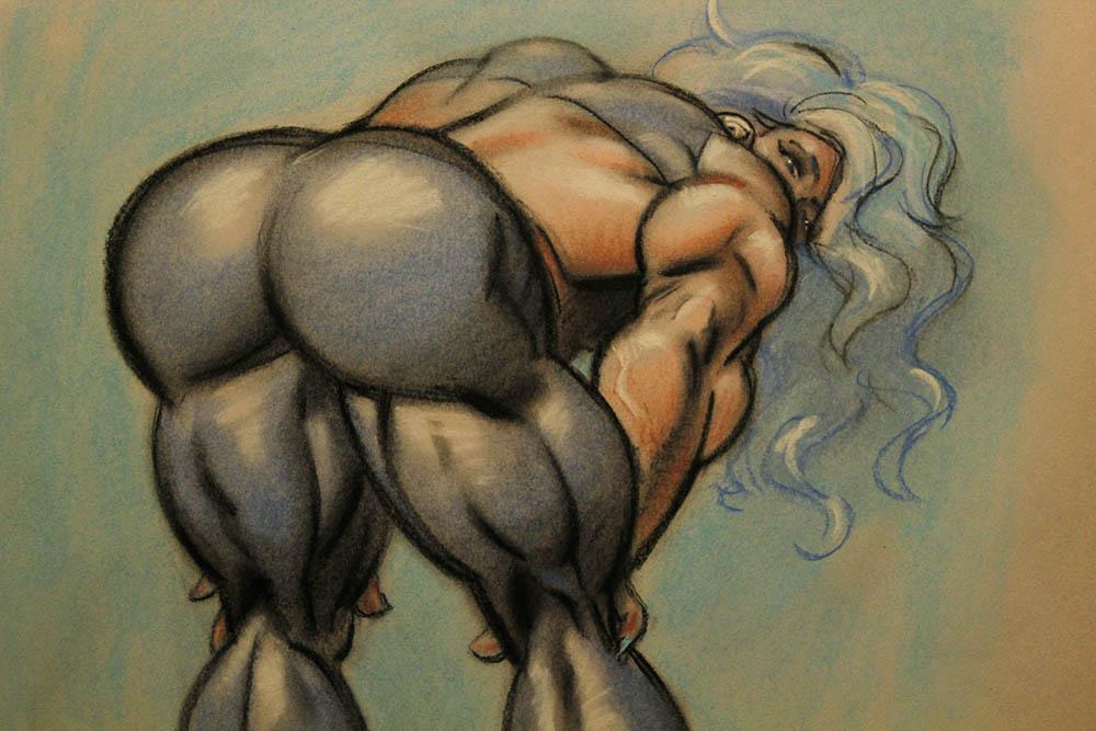 Quadra butt shot close-up by LymanDally