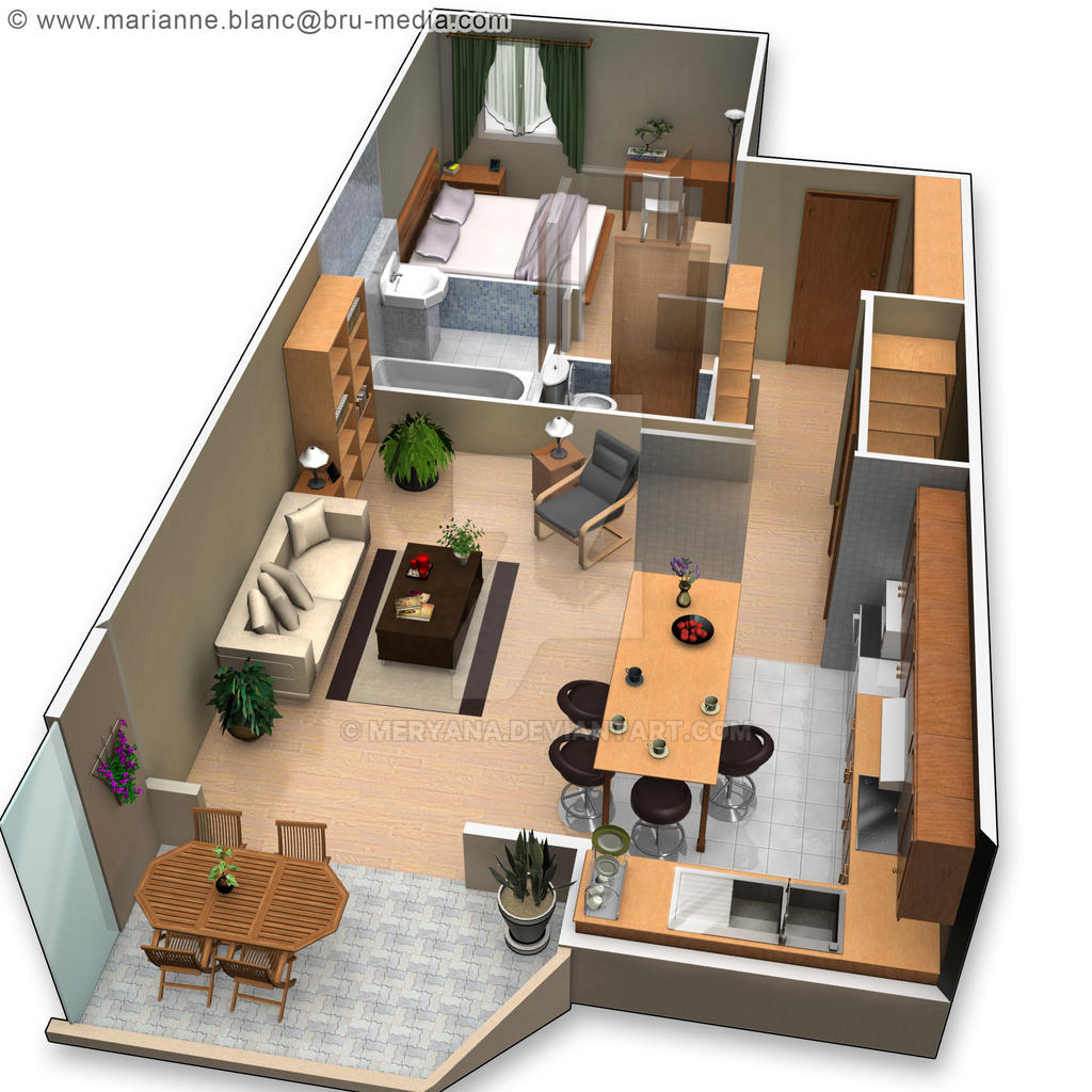 Plan Appartement D Awesome Duco Appartement U Agencement D With - Construction virtuelle maison gratuit