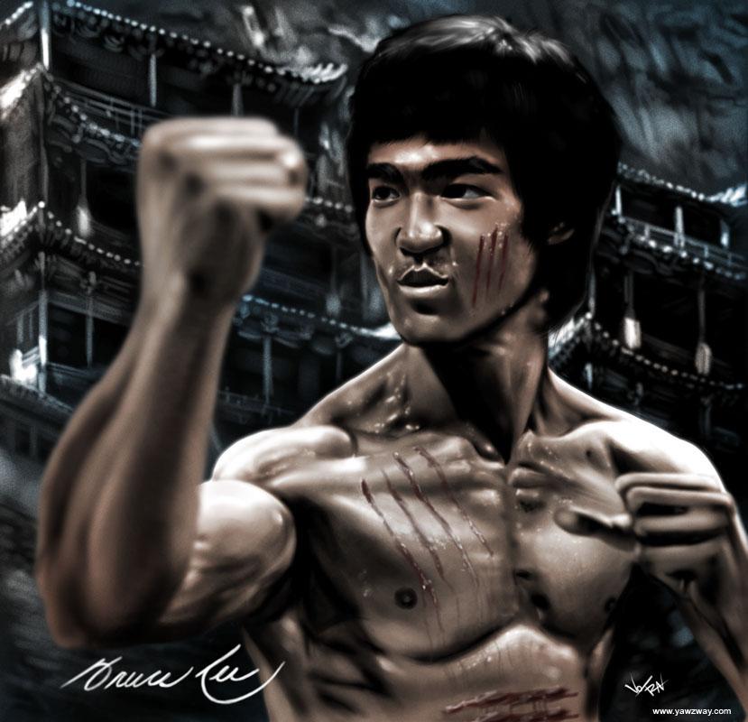 Bruce Lee by SkyFinch