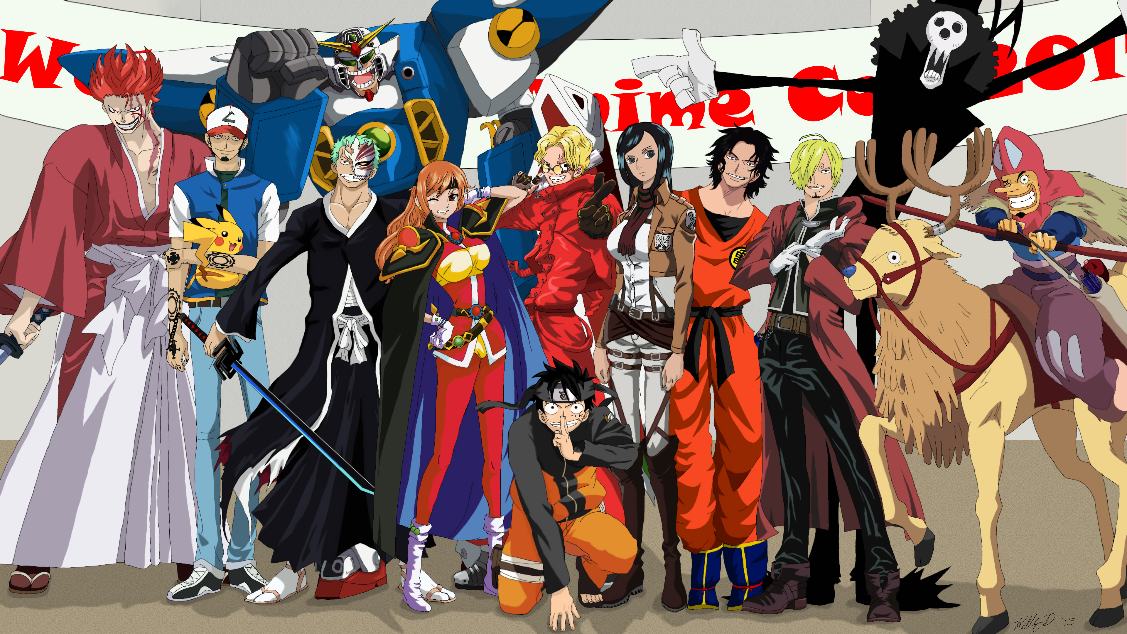 Anime Characters One Piece : One piece anime con by lobstirrchwan on deviantart