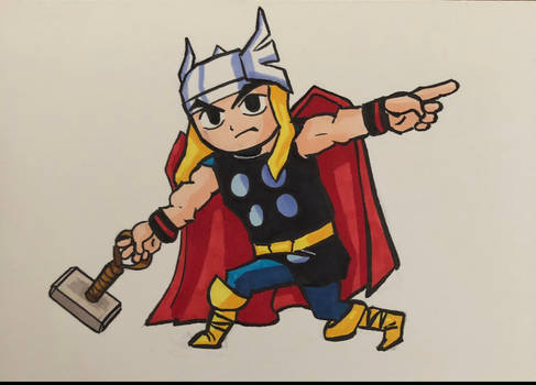 Thor in Toon Link style