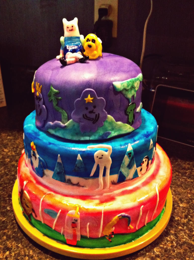 Adventure Time Cake by lmp92