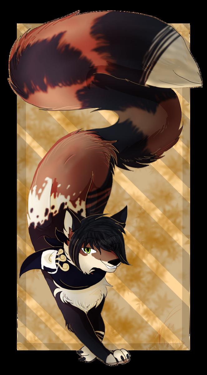 Autumn wolf by brenstar345