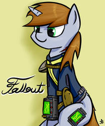 Fallout Equestria Littlepip by ruiont