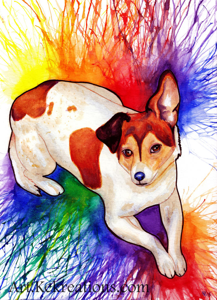 Jack Russell Commission by Sheltie2b