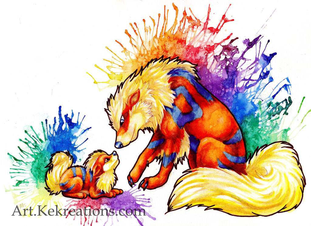 Arcanine and growlithe by kekreations on deviantart - Arcanine pics ...