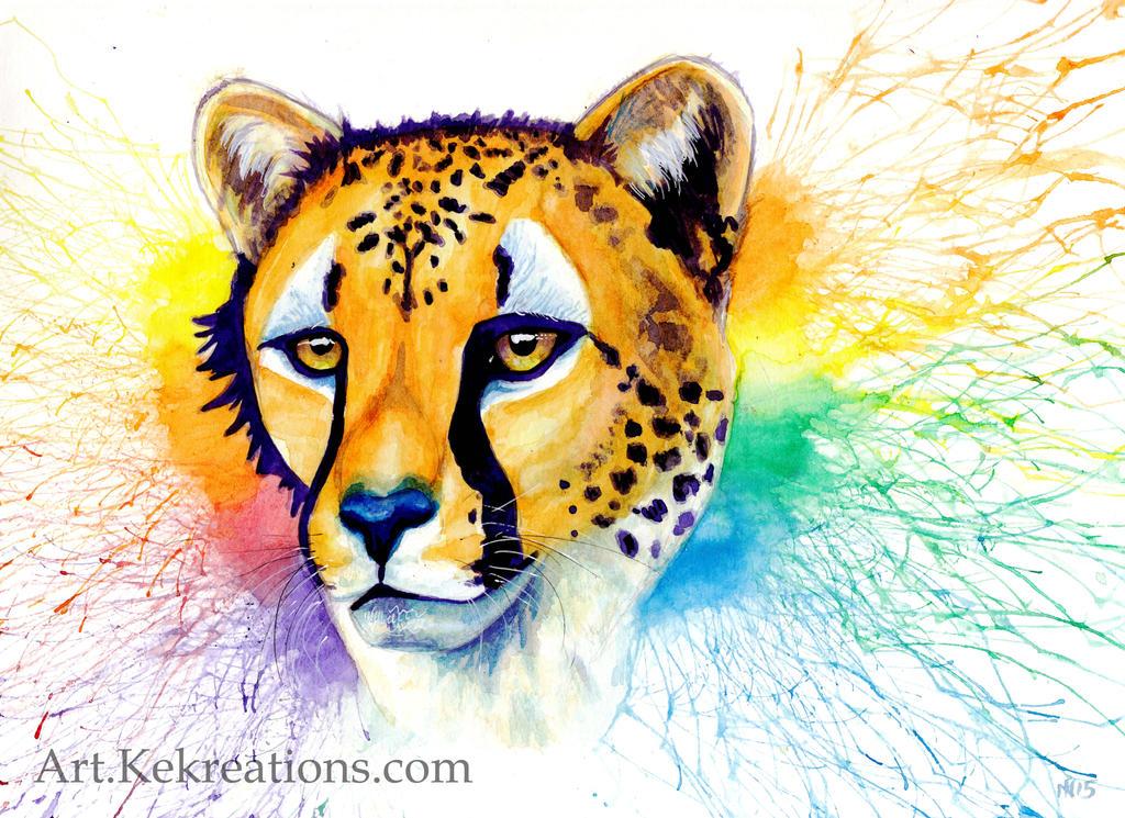 Cheetah head by Sheltie2b