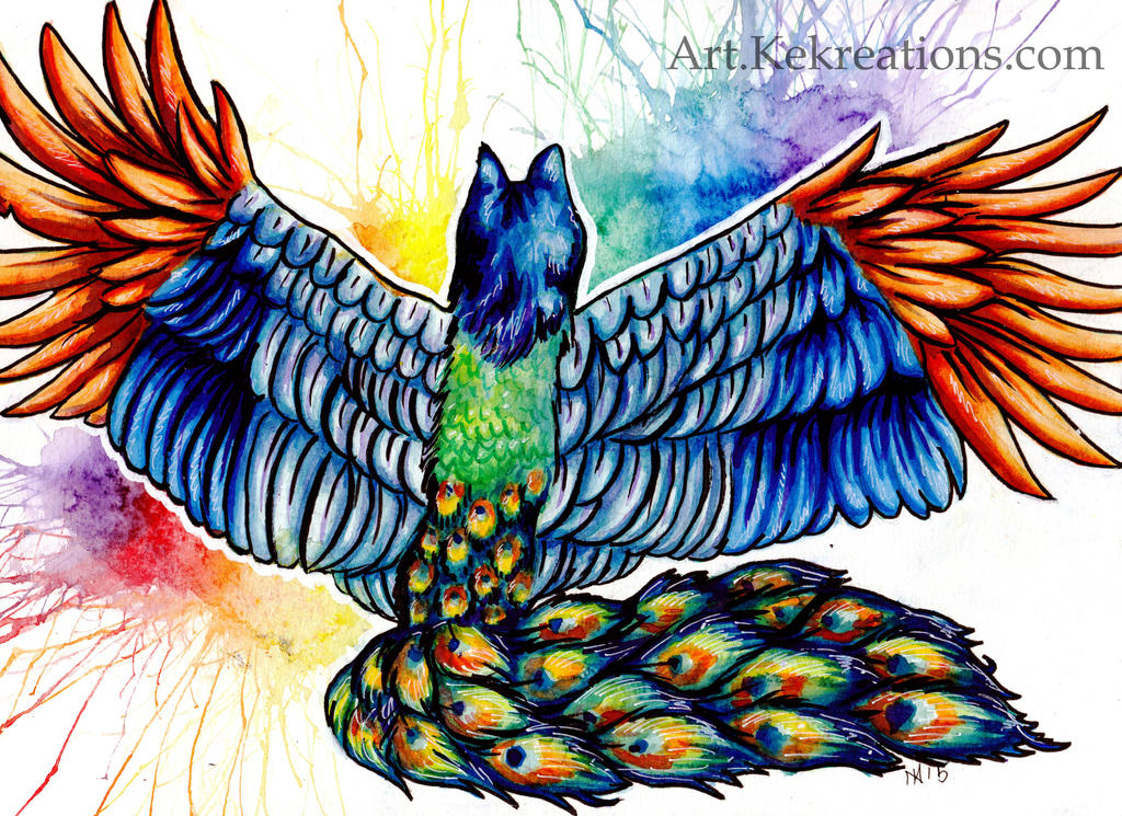 Peacock Wolf by Sheltie2b