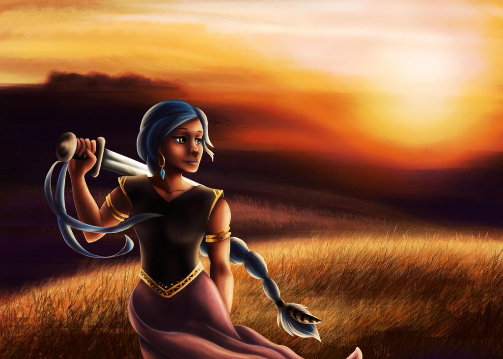 Blue Sword Girl by Sheltie2b