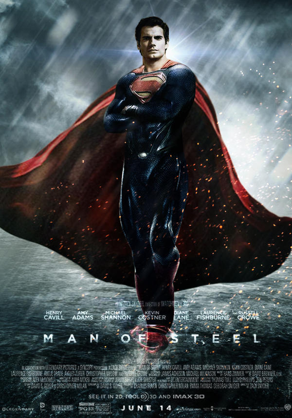 man of steel theatrical movie poster 2 by youngphoenix3191 on deviantart