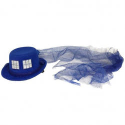 Glittering Police Box Sci-Fi Mini Hat by Cosplayfangear