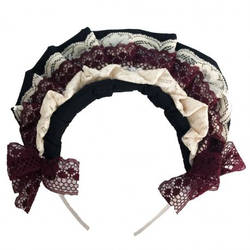 Frilly Classic Lolita Hair Band Headdress by Cosplayfangear