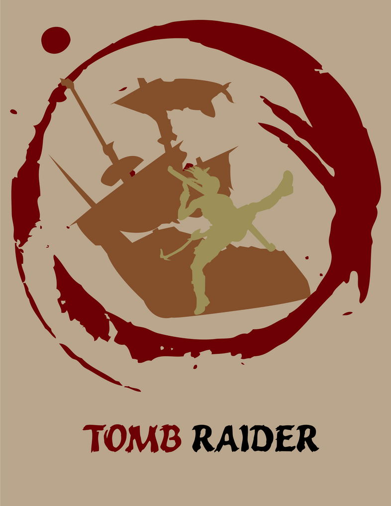 Tomb Raider - Minimalist Poster by UraHameshi