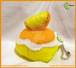 Orange Poke Puff Keychain