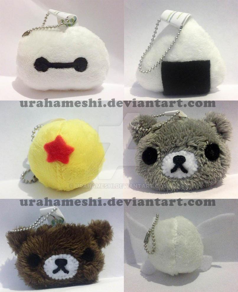 Plushie keychains by UraHameshi