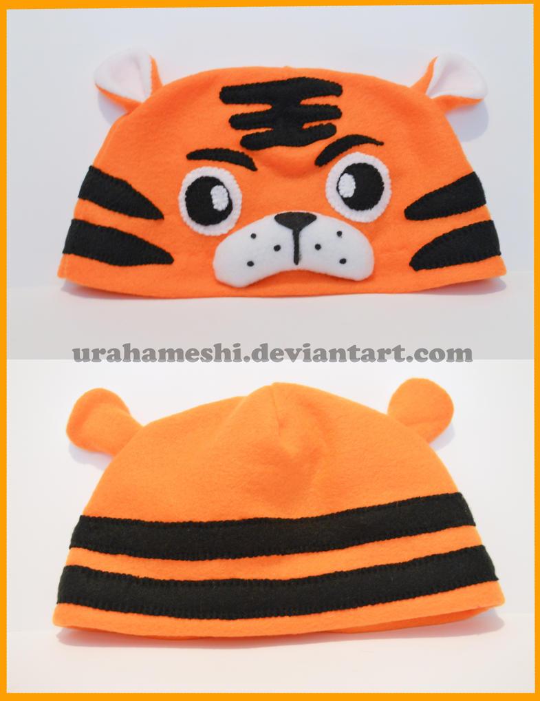 Tiger Beanie Hat by UraHameshi