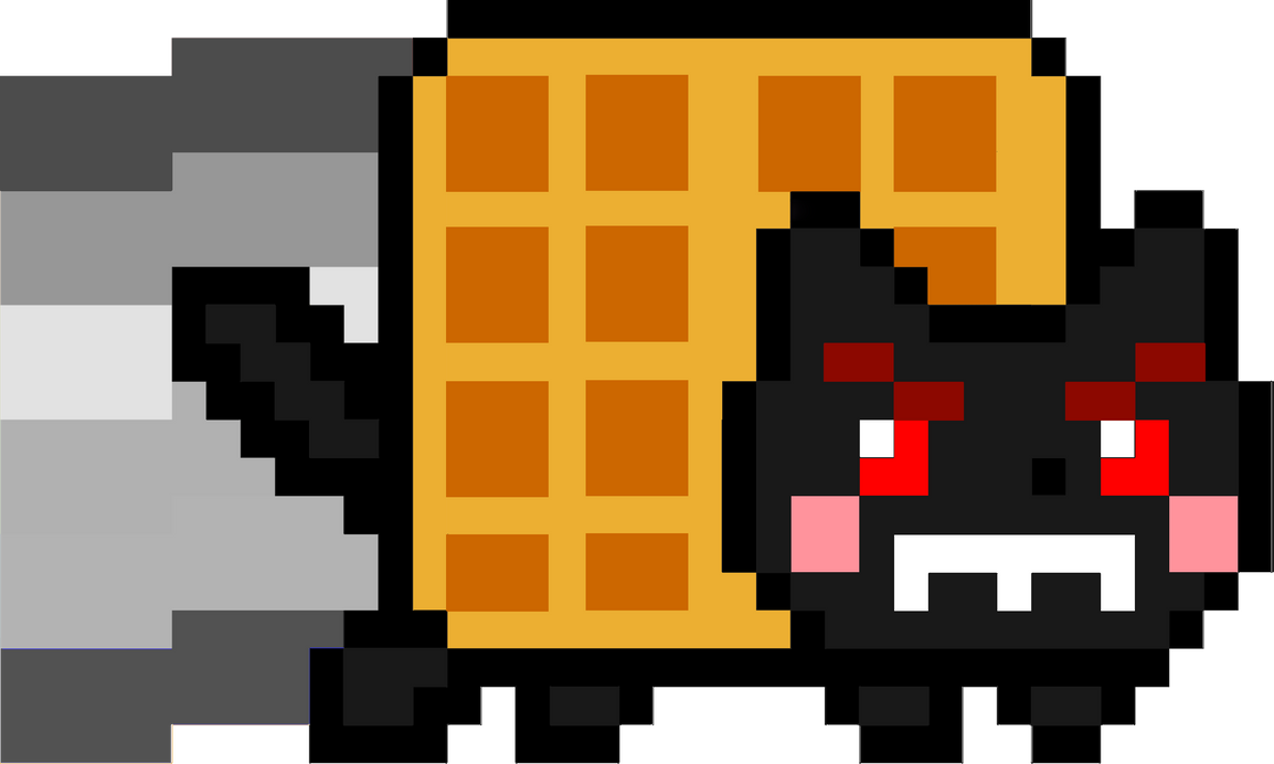 Evil Nyan Cat by Unkn0wnPlayer on DeviantArt Evil Nyan Cat Minecraft Grid