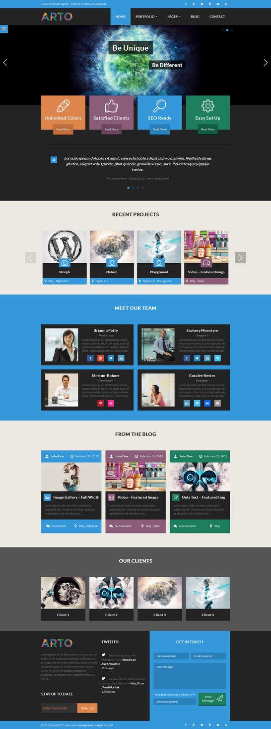 ARTo WordPress Theme by webdesigngeek