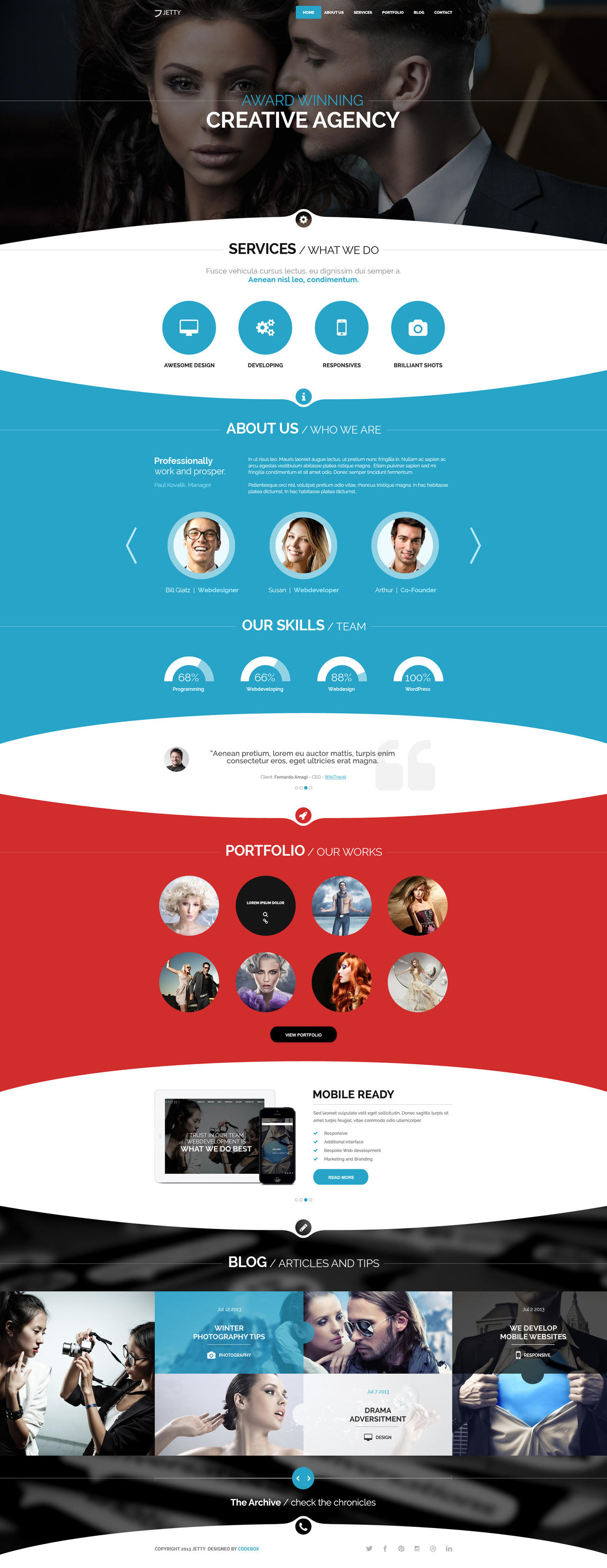 Jetty PSD Template by webdesigngeek