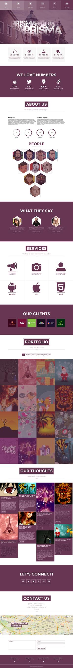 Prisma CreAtive WordPress by webdesigngeek