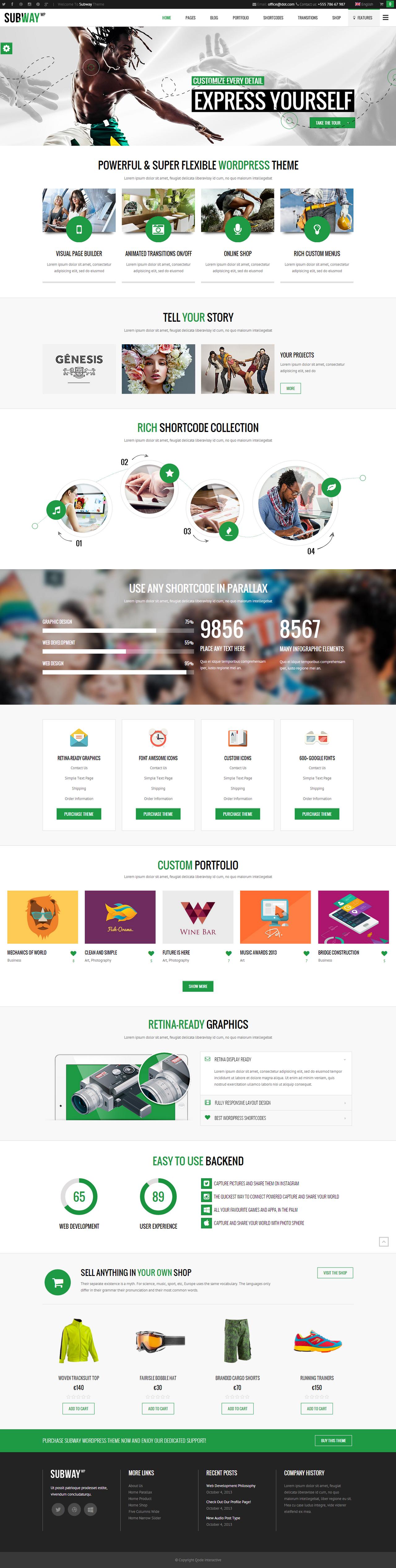 Subway WordPress Theme by webdesigngeek