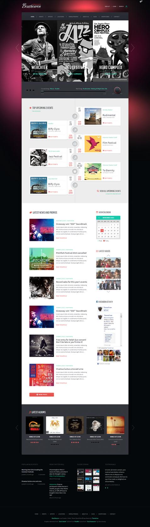 Beatheaven Music WordPress Theme by webdesigngeek
