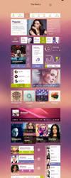Funky Tunes UI Kit by webdesigngeek