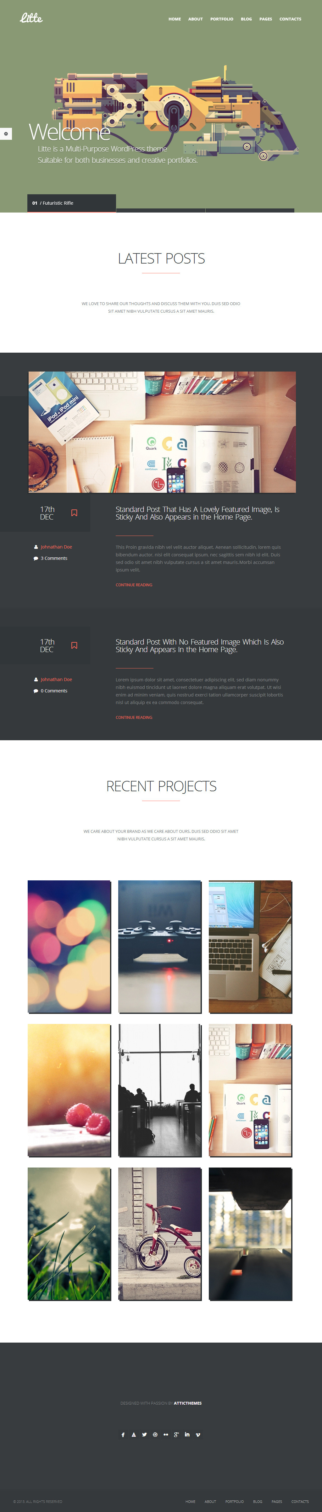 Little WordPress Theme by webdesigngeek
