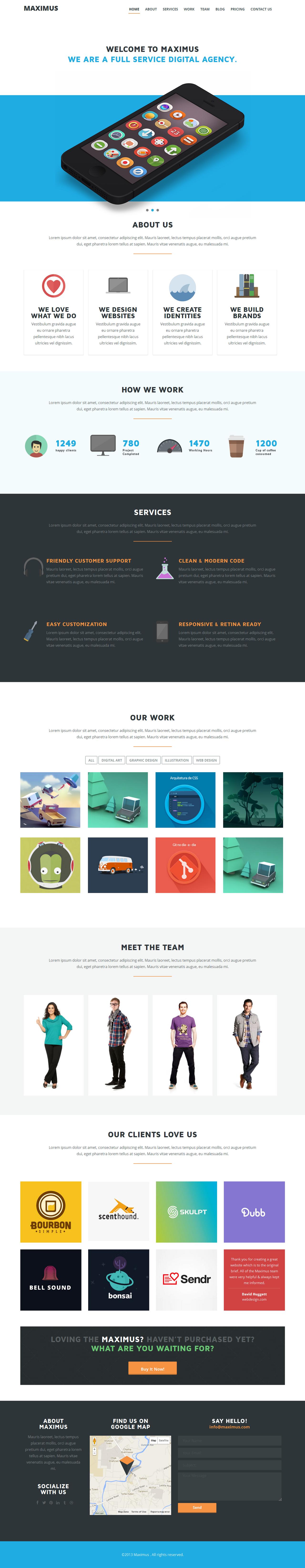 MAXIMUS Responsive Onepage Theme by webdesigngeek