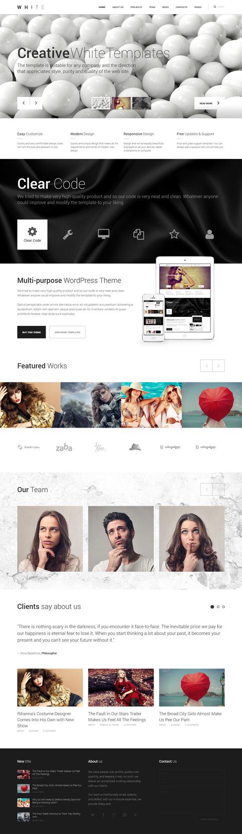 WHITE - Creative Theme by webdesigngeek
