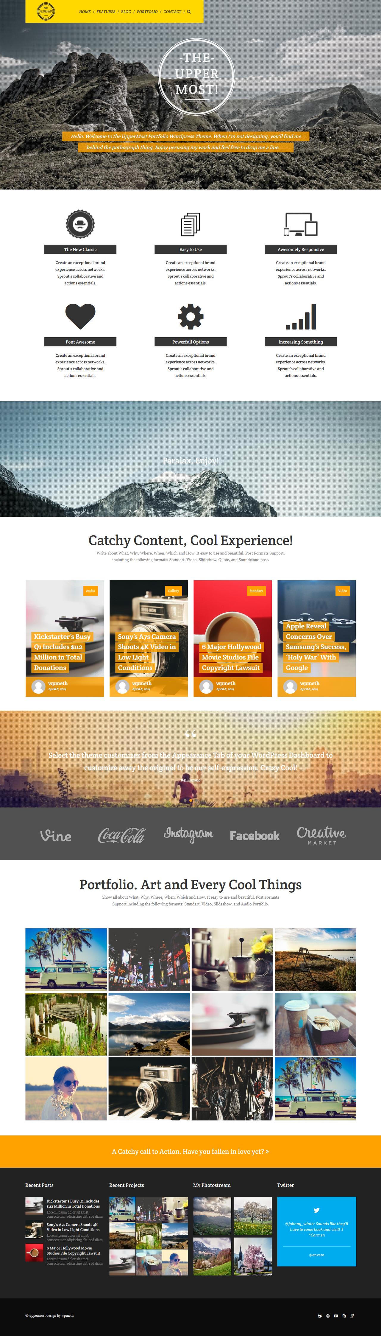 Bold Creative WP Theme by webdesigngeek