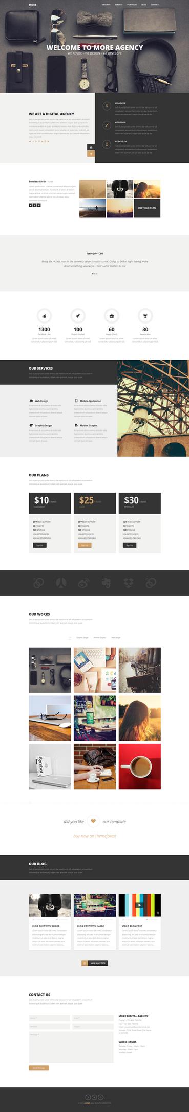 MORE - Creative One Page WordPress Theme by webdesigngeek