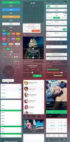 Shapes Mobile UI by webdesigngeek