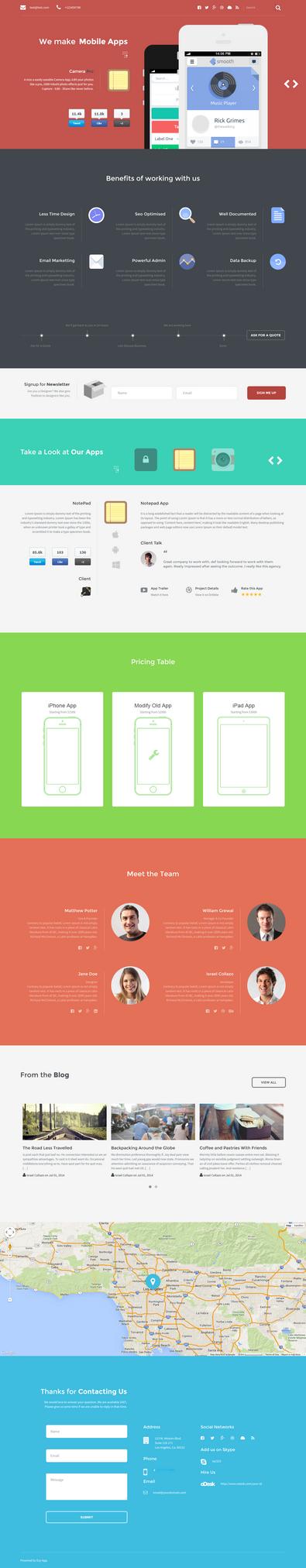 Esy App Responsive WordPress One Page Theme by webdesigngeek