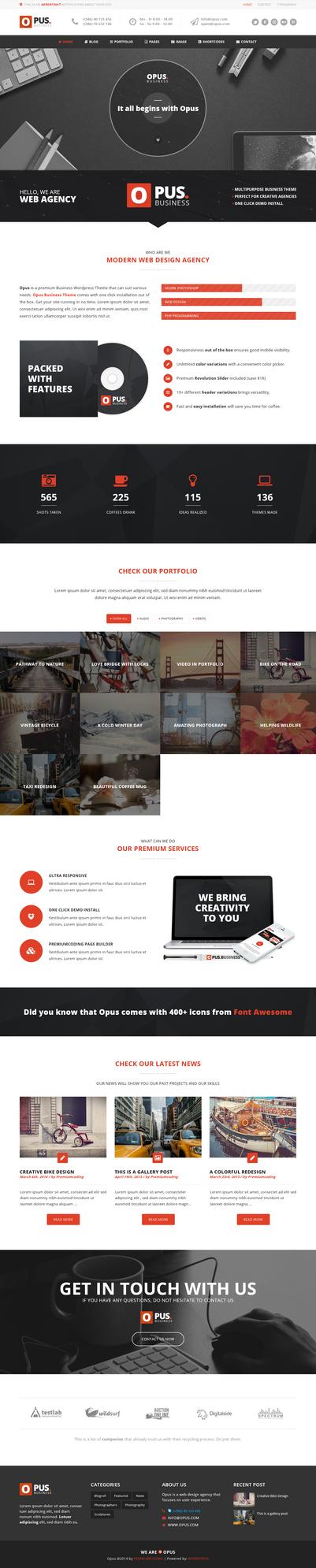 Opus - Multipurpose Business WordPress Theme by webdesigngeek