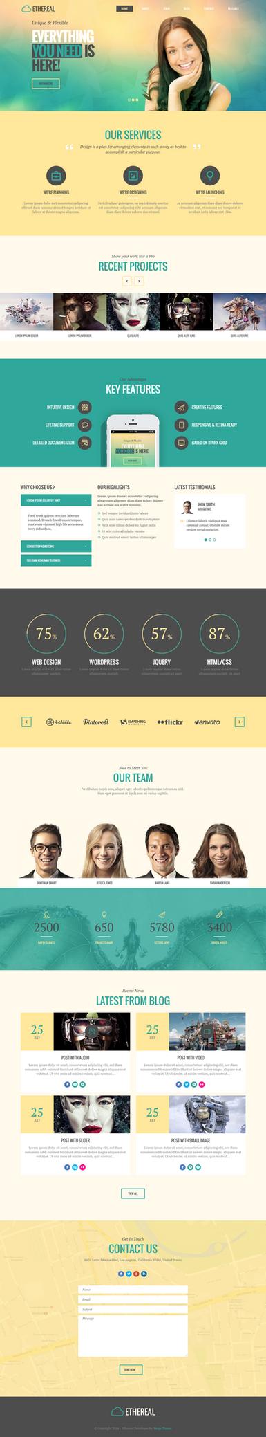 Ethereal - Multipurpose Parallax WordPress Theme by webdesigngeek