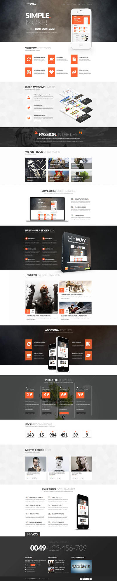MyWay Multipurpose Responsive Wordpress Theme by webdesigngeek